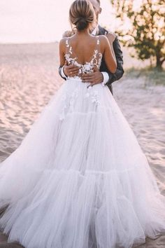 Floral Lace V-neck Outdoor Wedding Dress Tulle Skirt sold by NarsBridal on Storenvy Tulle Skirt Wedding Dress, Outdoor Wedding Dress, I Dress, Wedding Dresses, Cute White Dress, Lace Bodice, Pink Candy, Lace Back, Floral Lace