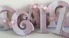 Vintage Handmade Wooden Letters For Baby Girls Nursery Bedroom.   eBay