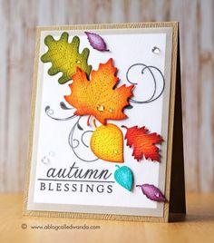 Rainbow Leaves Card - Scrapbook.com