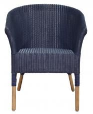 Block & Chisel indigo blue rattan dining armchair R2500