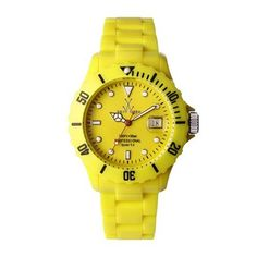 ToyWatch Fluo Yellow Optimist ~ Yellow is my favorite color for golf ~