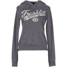 Franklin & Marshall Sweatshirt (£51) ❤ liked on Polyvore featuring tops, hoodies, sweatshirts, grey, grey sweat shirt, franklin & marshall, grey long sleeve top, sweat tops ve long sleeve tops