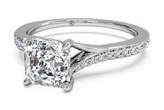 Ritani Modern Bypass Micropavé Diamond Band Engagement Ring - $6,581