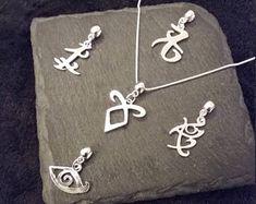 Collar plateado plata intercambiables de la runa