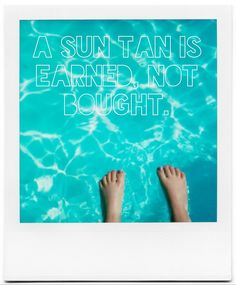 Heck yeah! I never have to pay to go tan (not that I would anyways) because of how much I work outside..those hard, hot, seemingly never-ending days earn me my Latina woman color ;)