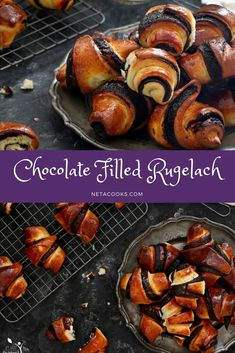 Chocolate filled rugelach recipe. #chocolate #rugelach