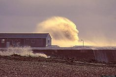 Mother nature is not happy...Simon Emmet took this photo of a wave at Lyme Regis - Feb. 2014