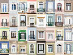 Een wereld van verschil: ramen en deuren aller landen in beeld. Hier: ramen in Sesimbra, Portugal.