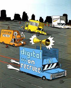#Digital VS #Presse, #Marketing & #Communication