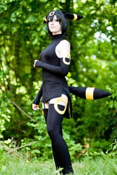 I would also really love to do an Umbreon costume. This one is very close to what I'd like to do but I'd have full leggings instead of thigh-highs.