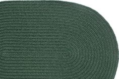Solid Dark Green - Slice Braided Rug