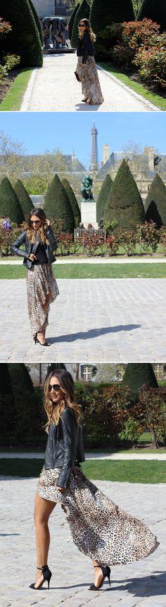 saia mullet + jaqueta de couro - Lala Noleto