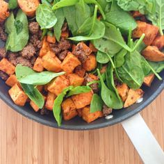 Chipotle Beef with Spinach and Sweet Potato
