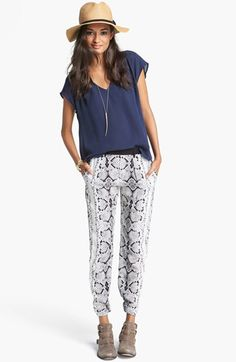 I am probably going to need these pants. Nanette Lepore 'Party Time' Silk Pants | Nordstrom