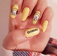 So let's go and see amazing BTS Inspired Nailart design. Kawaii Nail Art, Cute Nail Art, Cute Nails, Pretty Nails, Korean Nail Art, Korean Nails, K Pop Nails, Hair And Nails, Nail Swag