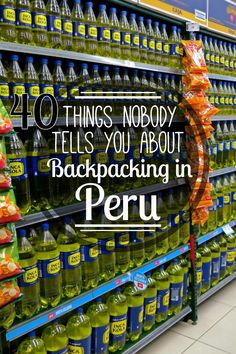 40 Things Nobody Tells You About Backpacking in Peru From lunchmeat on our pasta to the national obsession with Inca Kola& 40 things nobody told us about backpacking in Peru! Backpacking Peru, Backpacking South America, South America Travel, Hiking In Peru, Hiking Trails, Travel Goals, Travel Advice, Travel Guides, Travel Tips