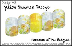 Jamberry NAS Design by Tina Hudgens, Design #18 Yellow Summer Breeze
