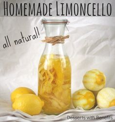 DIY Limoncello -- all natural, sugar free and with A QUARTER the calories of the storebought stuff.  Perfect for holiday gift-giving!