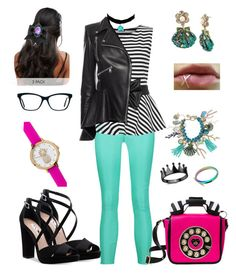 Drinks with Betsey by Valkyrie-Vale on Polyvore featuring polyvore, fashion, style, WearAll, Alexander McQueen, J Brand, Nina, Betsey Johnson, Francesca's, Topshop, ALDO, clothing and BetseyJohnson