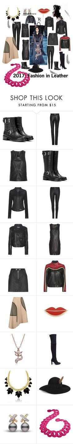 """Fashion in Leather!"" by lalu-papa ❤ liked on Polyvore featuring MARA, Calvin Klein Jeans, Chloé, TIBI, Georgia Perry, Stuart Weitzman and Yves Saint Laurent"