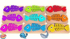 Learning Colors with Fish Bone Lollipops for Kids Toddlers Children Learning Colors, Lollipops, Nursery Rhymes, Toddlers, Kids Rugs, Fish, Marketing, Children, Baby