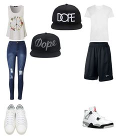 """""""Untitled #78"""" by hailey-michele on Polyvore featuring Yves Saint Laurent, NIKE and 21 Men"""
