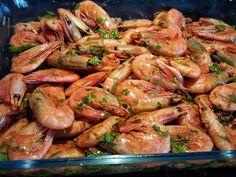 Grillade räkor med aioli - ZEINAS KITCHEN Aioli, Baguette, Tapas, Shrimp, Meat, Food, Gourmet, Grilling, Essen