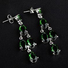 Zinklegierung Tropfen Ohrring, platiniert, mit kubischem Zirkonia, keine, frei von Nickel, Blei & Kadmium, 23x11mm, 5Paar/Gruppe, verkauft von Gruppe - perlinshop.com