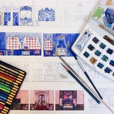 Can't wait to make them real… Hotel Suites, Hotel Spa, Watercolor Sketch, Event Venues, Sd, Canning, Chocolate, Interior Design, How To Make
