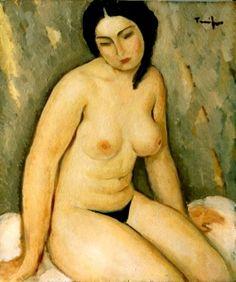 Nicolae Tonitza Post Impressionism, Impressionist, Constantino, Body Photography, Body Shapes, Female Art, Drawings, Nudes, Romania