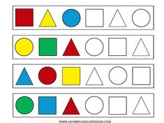 IMPRIMIBLES GRATIS: SERIES FORMAS Y COLORES BÁSICOS PARA CONTINUAR - Google Drive Preschool Assessment, Preschool Writing, Preschool Learning Activities, Preschool Worksheets, Scenery Drawing For Kids, 3d Shapes Worksheets, Bee Drawing, Critical Thinking, Google Drive