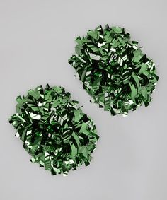 Take a look at this Green Metallic Pom-Pom by CheerZone on today! Cheer Pom Poms, How To Dry Basil, Soft Fabrics, Metallic, Herbs, Babies, Funny, Green, Babys