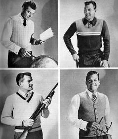 Men's sweaters minus the gun thanks