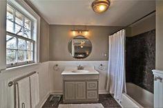Bathroom colors- love the white