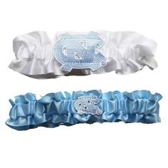 North Carolina Tar Heels NCAA Garter Set One to Keep One to Throw (White/Baby Blue)
