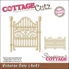 "CottageCutz Die 4""X4""-Victorian Gate Made Easy 