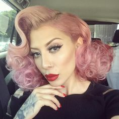 funky pin up hairstyle