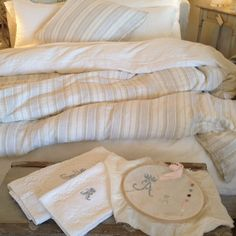 Rachel Ashwell Shabby Chic Couture linen bedding. Nothing else compares.