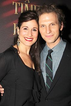 Broadway.com | Photo 15 of 58 | A Time to Kill Star Sebastian Arcelus with wife Stephanie J. Block at opening night