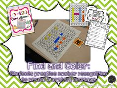 Find and Color a 120 Chart