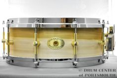 Noble AND Cooley Solid PLY Tulip Snare Drum 5x14 Gloss Brass