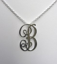 Letter B Necklace by jennystapledesigns on Etsy, $115.00