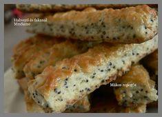 Habverő és fakanál: Mákos ropogós Sausage, Meat, Food, Beef, Meal, Sausages, Essen, Hoods, Meals