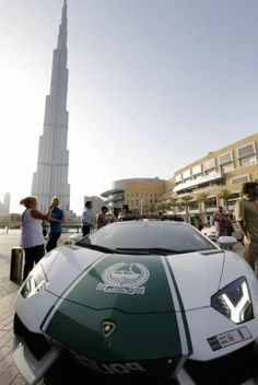 Police Lamborghini Dubai