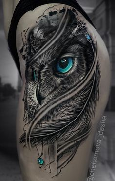 50 of the most beautiful owl tattoo designs and their meaning for the next . - 50 of the most beautiful owl tattoo designs and their meaning for the night animal in you – stunn - Eagle Tattoos, Wolf Tattoos, Animal Tattoos, Body Art Tattoos, Anchor Tattoos, Bird Tattoos, Feather Tattoos, Nature Tattoos, Black Owl Tattoo