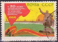 Russia - Vladimir Lenin on a postage stamp, 1964.