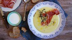 Jemná chřestová polévka se schwarzwaldskou šunkou a tymiánem Pho, Benefit, Eggs, Breakfast, Morning Coffee, Egg, Egg As Food