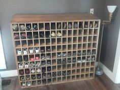 Post Office Wooden Mail Sorter Repurposed As Shoe Shelf All Kidy Shoes