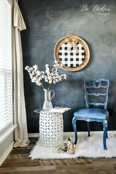 Painting Fabric on a Chair is Easier Than You Think! - Do Dodson Designs Painting Fabric Furniture, Painted Furniture For Sale, Colorful Furniture, Furniture Sale, Unique Furniture, Furniture Makeover, Furniture Decor, Paint Fabric, Furniture Design