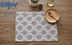 Double Layer Cotton Linen Placemat Heat Insulation Pad Cushion Coaster Table Mat